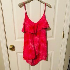 LF Soho store Millau flowy pink tie-dye tank top
